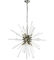 Picture for category Pendants 8 Light With Polished Nickel and Clear Crystal Metal E12 31 inch 0 Watts
