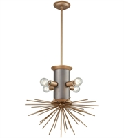 Picture for category Pendants 4 Light With Weathered Zinc and Antique Gold Metal E26 20 inch 0 Watts