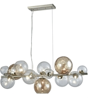 Picture for category Island 9 Light With Silver Leaf Finish Glass Metal Material G9 Bulb Type 14 inch 0 Watts