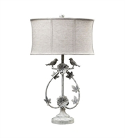 Picture for category Table Lamps 1 Light With Antique Whte Finish Iron Material Medium Base Bulb Type 31 inch 100 Watts