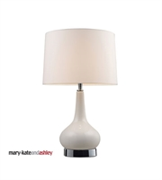 Picture for category Table Lamps 1 Light With White and Chrome Finish Ceramic Material Medium Base Bulb Type 18 inch 60 Watts