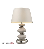 Picture for category Table Lamps 1 Light With Pure White and Chrome Ceramic Medium Base 23 inch 150 Watts