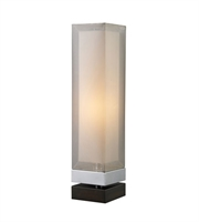 Picture for category Table Lamps 1 Light With Chrome and Espresso Painted Bass Steel Medium Base 23 inch 40 Watts