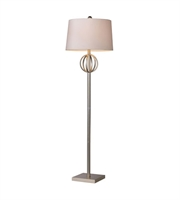 Picture for category Floor Lamps 1 Light With Silver Leaf Finish Steel Material Medium Base Bulb Type 62 inch 150 Watts