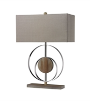 Picture for category Table Lamps 1 Light With Bleached Wood Chrome Steel Wood Medium Base 23 inch 100 Watts