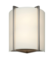 Picture for category Wall Sconces 1 Light With Brushed Steel Finish and Metal Material 11 inch 16 Watts