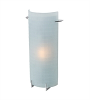 Picture for category Bathroom Vanity 1 Light With Brushed Steel Finish and Metal Material 15 inch 16 Watts