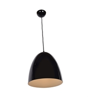 Picture for category Pendants 1 Light With Shiny Black Tones Finish and Metal Material 12 inch 60 Watts