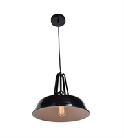 Picture for category Pendants 1 Light With Shiny Black Tones Finish and Metal Material 11 inch 60 Watts