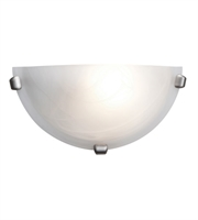 Picture for category Wall Sconces 1 Light With Brushed Steel Finish and Steel Material 6 inch 60 Watts