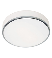 Picture for category Flush Mounts 2 Light With Chrome Tones Finish and Steel Material 4 inch 120 Watts