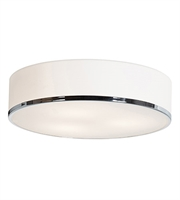 Picture for category Flush Mounts 3 Light With Chrome Tones Finish and Steel Material 5 inch 180 Watts