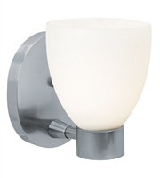 Picture for category Bathroom Vanity 1 Light With Brushed Steel Finish and Metal Material 6 inch 60 Watts