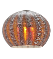 Picture for category Lighting Shades With Silver Amber Ribbed Opaline Tones Finish Glass Shade 4 inch