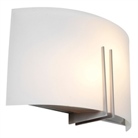 Picture for category Access Lighting 20447-BS/WHT Wall Sconces Brushed Steel Steel Prong