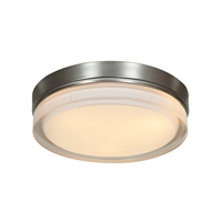 Picture for category Access Lighting 20775LEDD-BS/OPL Flush Mounts Brushed Steel Metal Solid