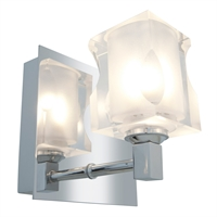 Picture for category Access Lighting 23916-CH/FCL Bath Lighting Chrome Metal Glase