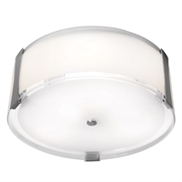 Picture for category Access Lighting 50120LEDD-BS/OPL Flush Mounts Brushed Steel Metal Tara