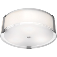 Picture for category Access Lighting 50121-BS/OPL Flush Mounts Brushed Steel Metal Tara