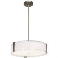 Picture for category Access Lighting 50123-BS/OPL Pendants Brushed Steel Metal Tara