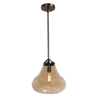 Picture for category Access Lighting 55546-DBRZ/AMB Pendants Dark Bronze Metal Flux