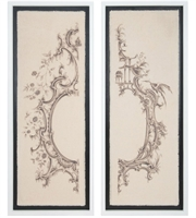 Picture for category Guild Master 1617012S Decor Handpainted Art and Gloss Black Canas Wood Ornamental Architectures