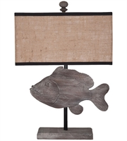 Picture for category Guild Master 3516504 Table Lamps Handpainted Solid Mahogany Fabric Fish