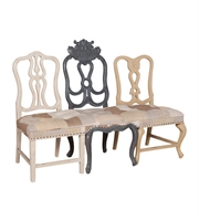 Picture for category Guild Master 652001 Chairs Crossroads Rosa and Antique Smoke Wood Fabric Vagabond