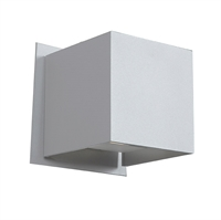 "Picture for category Wall Sconces 2 Light Fixtures With White Finish Aluminum Material SSL Type 4"" 6 Watts"