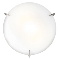 "Picture for category Flush Mounts 3 Light Fixtures With Brushed Steel Finish Steel Material A19 Type 4"" 180 Watts"