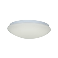 "Picture for category Flush Mounts 1 Light Fixtures With White Finish Metal Material Module Type 4"" 15 Watts"