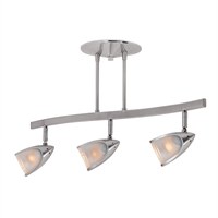 "Picture for category Fan Accessories 3 Light Fixtures With Brushed Steel Finish Metal Material Halogen Type 21"" 105 Watts"