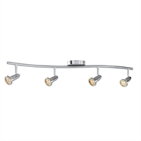 "Picture for category Fan Accessories 4 Light Fixtures With Brushed Steel Finish Metal Material Halogen Type 33"" 200 Watts"