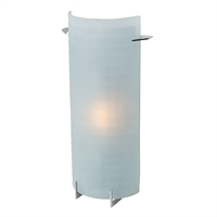 "Picture for category Bathroom Vanity 1 Light Fixtures With Brushed Steel Finish Metal Material Halogen Type 15"" 150 Watts"