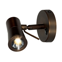 "Picture for category Wall Sconces 1 Light Fixtures With Bronze Finish Metal Material Module Type 5"" 3 Watts"
