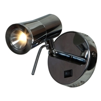 "Picture for category Wall Sconces 1 Light Fixtures With Chrome Finish Metal Material Module Type 5"" 3 Watts"