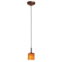 "Picture for category Pendants 1 Light Fixtures With Bronze Tone Finish GY-6.35 12v HGN BI-Pin Bulb Type 3"" 35 Watts"