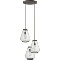 "Picture for category Pendants 3 Light Fixtures With Oil Rubbed Bronze Finish Steel Material Medium Bulb 21"" 300 Watts"