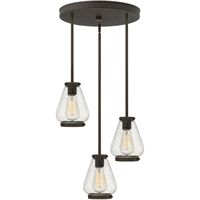 "Picture for category Pendants 3 Light Fixtures With Oil Rubbed Bronze Finish Steel Material Medium Bulb 17"" 300 Watts"