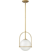 "Picture for category Pendants 1 Light Fixtures With Heritage Brass Finish Steel Material Medium Bulb 12"" 100 Watts"