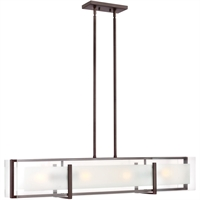 "Picture for category Island Lighting 4 Light Fixtures With Oil Rubbed Bronze Finish Steel Material Medium Bulb 42"" 400 Watts"