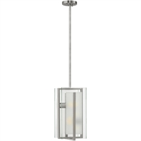 "Picture for category Pendants 2 Light Fixtures With Brushed Nickel Finish Steel Material Medium Bulb 8"" 200 Watts"