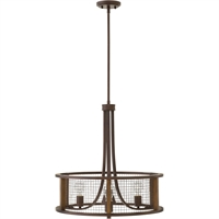 "Picture for category Iron Rust Tone Finish Pendants 23"" Wide Steel Material Medium Type 3 Light Fixture"