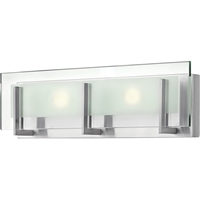 "Picture for category Bathroom Vanity 2 Light Fixtures With Brushed Nickel Finish Steel Material LCP-60 Bulb 18"" 28 Watts"
