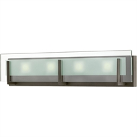 "Picture for category Bathroom Vanity 3 Light Fixtures With Oil Rubbed Bronze Finish Steel Material LCP-60 Bulb 26"" 84 Watts"