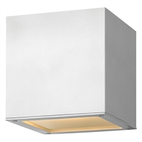 "Picture for category Satin White Tone Finish Wall Sconces 7"" Wide Extruded Aluminum LED 2 Light Fixture"