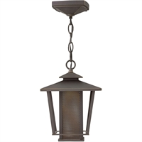 "Picture for category Outdoor Pendant 1 Light Fixtures With Oil Rubbed Bronze Finish Aluminum Material LED Bulb 8"" 13 Watts"