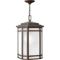 "Picture for category Outdoor Pendant 1 Light Fixtures With Oil Rubbed Bronze Finish Cast Aluminum Material Medium Bulb 12"" 100 Watts"