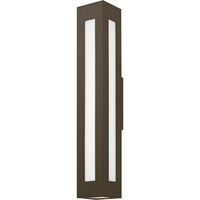 Picture for category Wall Sconces Fixtures With Bronze Tone Finish Aluminum Material Clear Painted White Inside Glass 6""