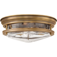 "Picture for category Brushed Bronze Tone Finish Flush Mounts 13"" Wide Steel Medium Type 2 Light Fixture"
